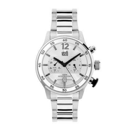 Visetti Dual Time Stainless Steel Bracelet PE692SI