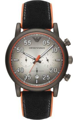 Emporio Armani Luigi Chronograph Black Leather AR11174