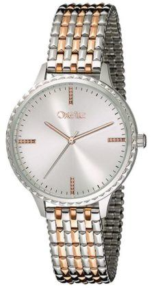 Oxette Tokyo Two Tone Rose Gold Stainless Steel Bracelet 11X03-00568