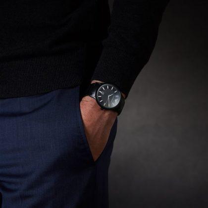Emporio Armani Renato Black Stainless Steel Bracelet AR11184