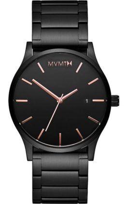 MVMT Link Rose Gold Black Stainless Steel Bracelet D-MM01-BBRG