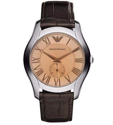 EMPORIO ARMANI Valente Brown Leather Strap  AR1704
