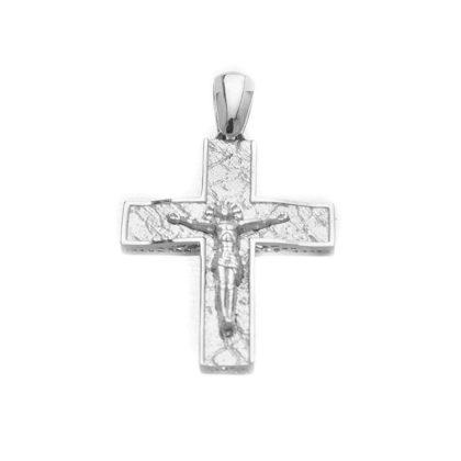Βαπτιστικός σταυρός λευκόχρυσος 14 καρατίων Κ14.87444