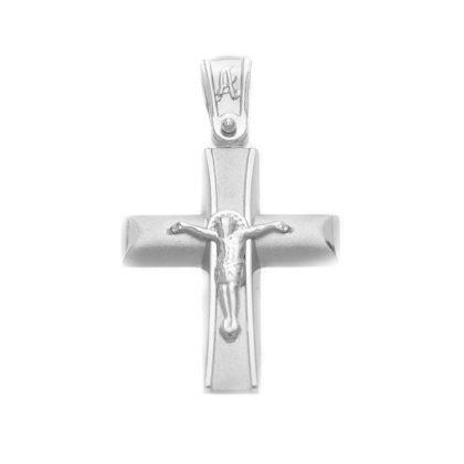 Βαπτιστικός σταυρός λευκόχρυσος 14 καρατίων Κ14.87447