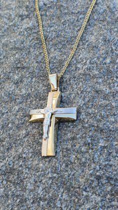 Βαπτιστικός σταυρός χρυσός 14 καρατίων Κ14.88672