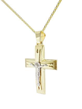 Βαπτιστικός σταυρός χρυσός 14 καρατίων Κ14.88674