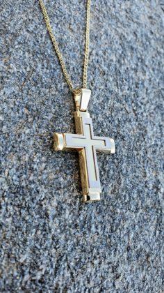 Βαπτιστικός σταυρός χρυσός 14 καρατίων Κ14.88678