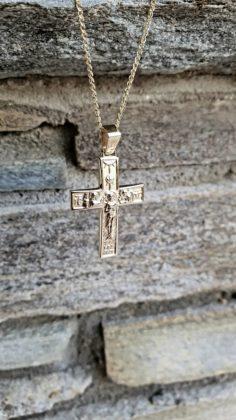 Βαπτιστικός σταυρός χρυσός 14 καρατίων Κ14.88670