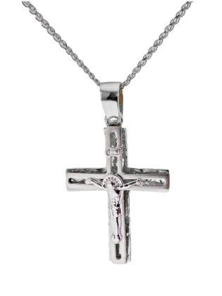 Βαπτιστικός σταυρός λευκόχρυσος 14 καρατίων Κ14.87522