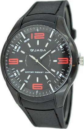 JAGA Black Rubber Strap AQ0917
