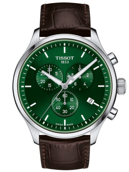 TISSOT T-Sport Chrono XL Chronograph Brown Leather Strap T116.617.16.091.00