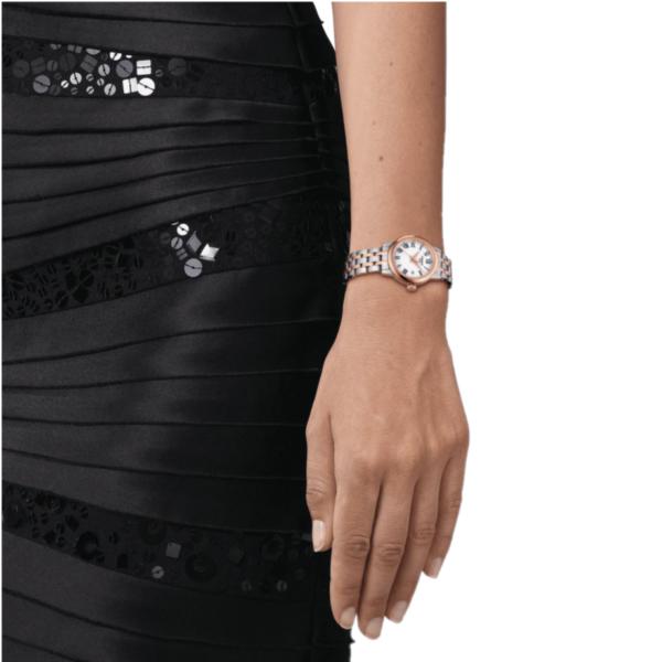 TISSOT Dream Ladies Two Tone Rose Gold Stainless Steel Bracelet T129.210.22.013.00