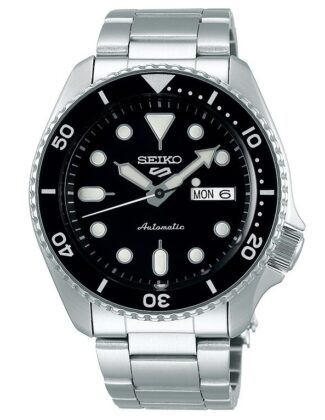 SEIKO 5 Day / Date Automatic Black Dial Stainless Steel Bracelet SRPD55K1